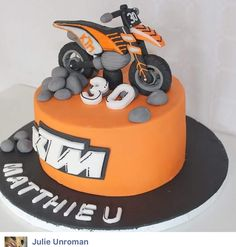 9th Birthday, Birthday Cake, Dirt Bike Cakes, Tropical Party Decorations, Cream Cake, Cake Pops, Frozen, Cupcakes, Desserts