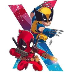 Deadpool and wolverine art. If you want more such images visit my board Chibi. Deadpool Chibi, Deadpool Wolverine, Chibi Marvel, Wolverine Art, Marvel Art, Marvel Heroes, Marvel Cartoons, Dc Comics Superheroes, Marvel Dc Comics