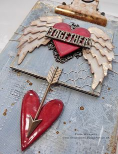 Altered Valentine's Clipboard created for Simon Says Stamp using Tim Holtz products