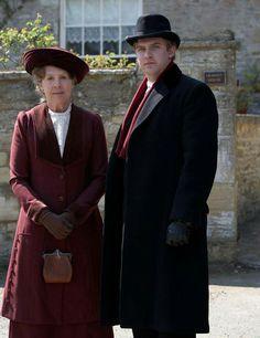 Isobel and Matthew Crawley.    Penelope and Dan