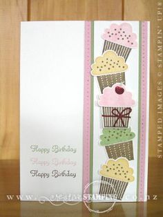 SU! Create a Cupcake stamp and Cupcake Builder punch - Kristine McNickle
