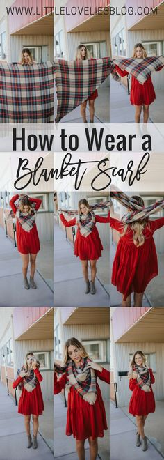 how to wear a blanket scarf in 5 easy steps