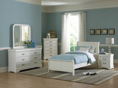 Homelegance 539TW 1 Marianne Classic Cottage Kids White Wood Twin Bed |  Baby U0026 Kids | Pinterest | Beds, Kid And Cottages