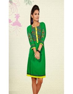 Chic Green Ready Made Kurti Rs.2,680