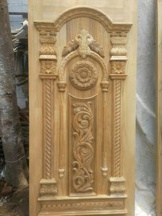 Wooden Main Door Design, Small House Design, Ss, Carving, Doors, Home Decor, Decoration Home, Room Decor, Design For Small House