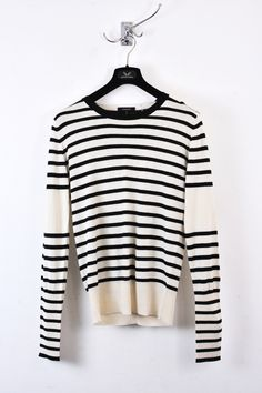 e9273fc7cfd5 UNCONDITIONAL   UNCONDITIONAL SILK CASHMERE BLACK AND IVORY STRIPED JUMPER  WITH BACK T