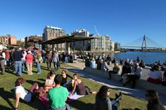 Pyrmont Festival of Wine, Food and Art. Usually a beautiful Autumn day in Sydney. Pyrmont is a foodie at heart.