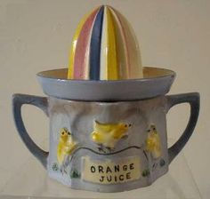 Vintage ceramic juicer