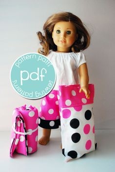 "American Girl Sewing Patterns Free | 18"" american girl sewing pattern doll pajama pants - ... 