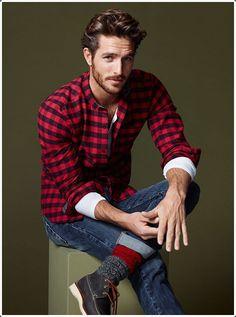 mens plaid flannel shirts