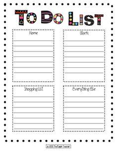 Cute to-do list for the ever-organized teacher!...