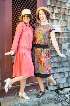 American Duchess blog - Two made 1920s day dresses. One upcycled from a Forever 21 dress, the other handmade. Both fun!