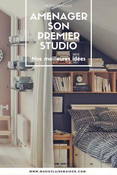 Nos idées pour décorer son premier studio ou appartement et optimiser les rangements dans une petite surface