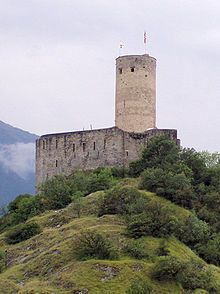 La Bâtiaz Castle is a castle in the municipality of Martigny of the Canton of Valais in Switzerland.