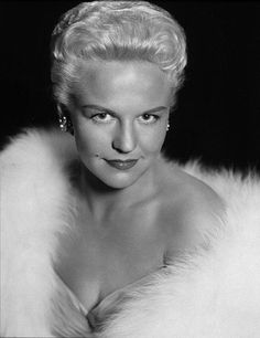"""Peggy Lee (1920 - 2002) Jazz and pop singer, """"Is That All There Is?"""", """"Fever"""""""