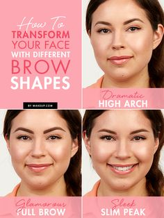 Ready to shape those brows? Here are some different eye brow looks and how to change them up easily!