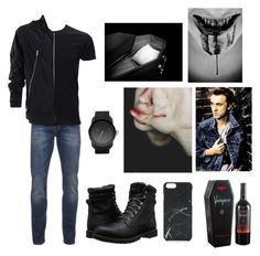 """""""there's a new guy in town"""" by creepypasta-is-mah-life ❤ liked on Polyvore featuring castro, Scotch & Soda, Simplex Apparel, Maison Margiela, Timberland, Diesel, Native Union, men's fashion and menswear"""