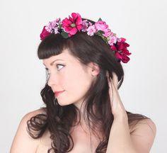 Romantic Bohemian Flower Crown - Floral Head Wreath by Sweet Little Sparrow