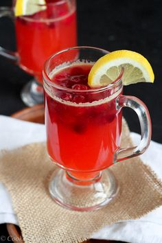 Hot Cranberry and Whiskey Lemonade