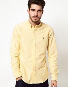 Polo Ralph Lauren Shirt In Yellow Oxford