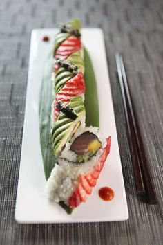 spicy strawberry maki at Virago (Nashville,TN)