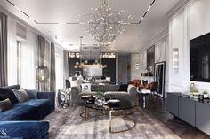 New Living Room, Living Room Modern, Living Room Designs, Living Room Decor, Room Interior Design, Apartment Interior, Luxury Apartments, Luxury Homes, Salon Art Deco