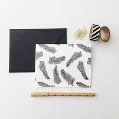 Feather Note Cards by stationeryboutique on Etsy