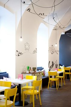 Fun playroom colours and wall scribbles | Soup in The City, Fushion Hotel, Prague