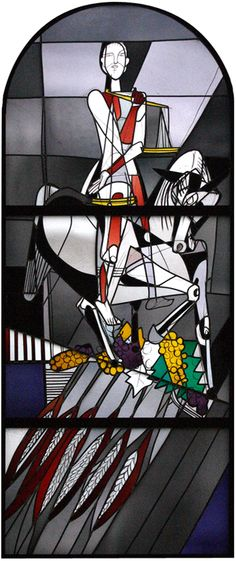 Georg Meistermann (1911-1990), Windows depicting the Four Horsemen of the Apocalypse were designed in 1954 and are located in the Old Town Hall- Municipal Gallery for Modern Art in Wittlich, Germany.