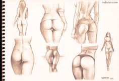 buttocks studies - pencil drawing by *rafater on deviantART