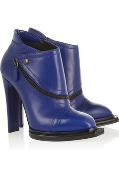 McQ Alexander McQueen|Leather ankle boots|NET-A-PORTER.COM
