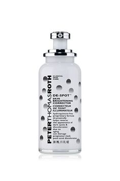 While Peter Thomas Roth's brightener uses a bunch of ingredients, Niacinamide is the main active. It's also safe to use on your hands and décolletage. Peter Thomas Roth De-Spot Skin Brightening Corrector, $75, available at Peter Thomas Roth.  #refinery29 http://www.refinery29.com/best-dark-spot-corrector#slide-2
