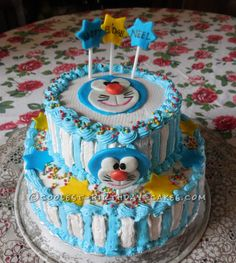 Coolest Doraemon Birthday Cake... This website is the Pinterest of birthday cake ideas