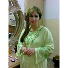 Attractive Arbian Cute Auntie in Light Green Salwar Kameez Dress