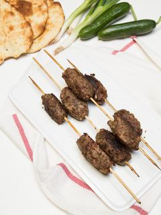 We've discovered Mediterranean cuisine last summer and ever since have been testing a bunch more Mediterranean restaurants in the area. Most Beef Kofte Kebabs have at least ten different spices in them, but this recipe makes it simple, using only a few spices. It tastes just as good, if not better than what you eat at Mediterranean restaurants. We had those Kofte Kebabs as Gyros with Tzatziki Sauce; our friends who've never tried Gyros before, thought that they were delicious.