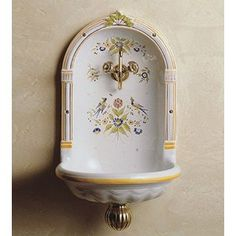 47 best Hand Painted Sinks images on Pinterest Bathroom Sink Mounting Cket on
