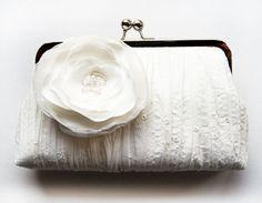 Ivory bridal clutch bag IV