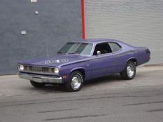 A Purple Plymouth Duster...my dream car when I was in high school.
