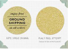 Digital gold glitter