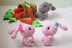 DIY - Stuffed Sock Bunny  (Follow the step by step photos and instruction to sew sock bunny by using only 1 sock.)