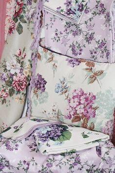 pretty floral linens