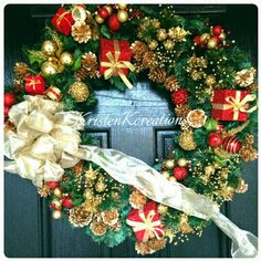 Check out this item in my Etsy shop https://www.etsy.com/listing/256806790/elegant-christmas-wreath-christmas