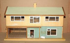 "Tri-ang ""V"" Dolls House, simple style.  .....Rick Maccione-Dollhouse Builder www.dollhousemansions.com"