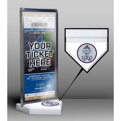 2015 World Series Ticket Display Stand
