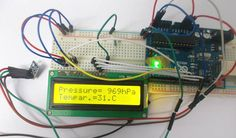 Interfacing Pressure Sensor BMP180 with Arduino