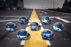 """""""Navy Fleet"""" uniforms and hand-painted helmets for the Army-Navy Game"""