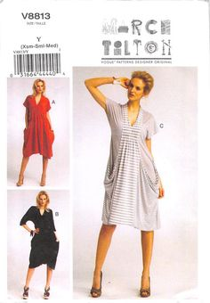 VOGUE 8813 - UNCUT - MISSES DRESS