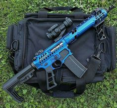 WEBSTA @ gunfreaks - Via @modernweapons - Blue arVia @busaj52 - She done doe. Sbr life. follow @gunfreaks#weaponsreloaded #RVLVR #defendthesecond #guns #gunfreaks #gun #firearms
