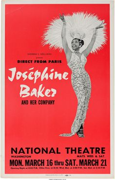 Josephine Baker National Theatre Concert Poster (Sherman | Lot #89201 | Heritage Auctions