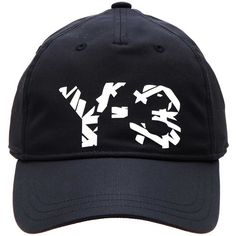 29a112ef3e5 Y-3 Logo baseball cap ( 59) ❤ liked on Polyvore featuring men s fashion